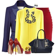 Red, Yellow & Blue by daiscat on Polyvore featuring moda, iHeart, By Malene Birger, Chicwish, Valentino, Michael Kors, Gottex and Juicy Couture  www.puddycatshoes.com