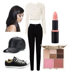 """""""Black and white 🐾"""" by nariviahoyos on Polyvore featuring A.L.C., EAST, Stila, Converse and Donna Bella Designs"""