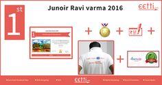 "#eetti #JuniorRaviVarma 2016 1st Prize for 6th to 10th standard goes to ""Meghna Unnikrishnan"".  For more details visit https://www.facebook.com/eettidotcom"
