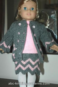 ABC Knitting Patterns - American Girl Doll Knitted Top
