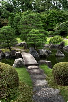 Japanese Garden in Kyoto. Pinned by Janna Schreier