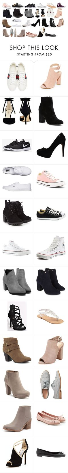 """""""Sem título #36"""" by lilymadoxx on Polyvore featuring Gucci, Kendall + Kylie, Nine West, Witchery, NIKE, Vans, Converse, Red Herring, Monsoon e SONOMA Goods for Life"""