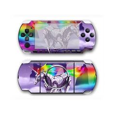 Unicorn PSP 3000 skin for the PSP 3000 console. Choose your favorite design from a huge range of PSP 3000 skins collection for PSP 3000 console. Xbox One Skin, Console Styling, Ps4 Skins, Psp, Games To Play, Unicorn, Decal, Sticker, Design
