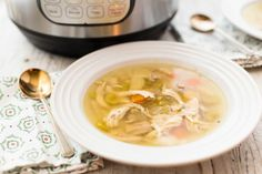 How to Make Chicken Soup in the Pressure Cooker Recipe   SimplyRecipes.com