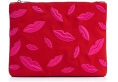Lip printed bag