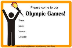 Olympic Games Event Printables