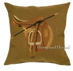 Hunt Saddle Tapestry Pillow Pillows - Equestrian - Pillows - Equestrian - By Belgium Tapestry at Horse and Hound Gallery