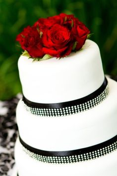 Black and White Diamonds with Fresh Roses White Diamonds, Special Occasion, Wedding Cakes, Roses, Fresh, Black And White, Wedding Gown Cakes, Pink, Wedding Cake