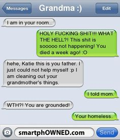 30 Epic Funniest Text Message Responses Fail Ever 16 Mothers And Daughters Who Sent Each Other Some Seriously Funny Texts Outstanding move 37 Funny Text Messages - 27 Texts Hilarious Memes can't stop Laughing 40 Funny Text Messages For You If You D. Funny Texts Jokes, Text Jokes, Funny Text Fails, Cute Texts, Funny Text Messages, Text Pranks, Funny Text Conversations, Funny Texts From Parents, Mom Texts