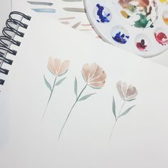 Simple strokes w/ muted hues