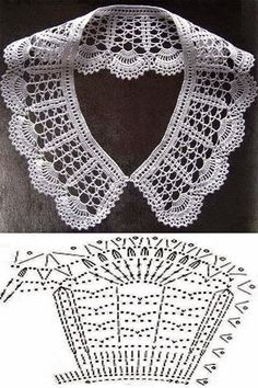 """Monica Veloso Castro added a new photo — with Maria Ale Torres."", ""Stitch crochet pattern for women"", ""It is a website for handmad Crochet Collar Pattern, Col Crochet, Crochet Bolero, Crochet Lace Collar, Crochet Diagram, Crochet Blouse, Crochet Chart, Thread Crochet, Crochet Scarves"