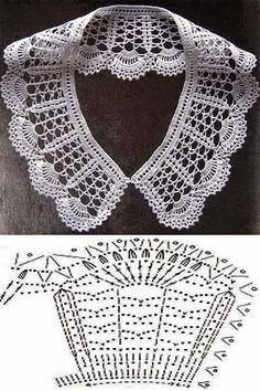 Diagrama crochet de cuello delicado | Todo crochet