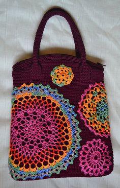 Crochet daily bag Christmas in Warsaw. Women's modern от Veselunka