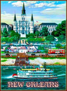 New-Orleans-Louisiana-Creole-Queen-United-States-Travel-Advertisement-Poster
