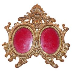 Victorian Ornate Cast Iron Double Photo Frame from KLM Antiques Exclusively on Ruby Lane