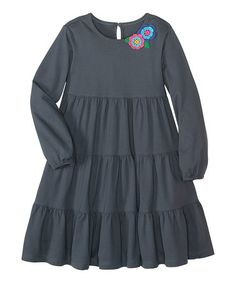 Take a look at this Evening Gray Twirl Girl Dress - Infant, Toddler & Girls by Hanna Andersson on #zulily today!