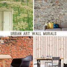We carry these gorgeous mural wall coverings from JF Fabrics Urban Art Wall Murals