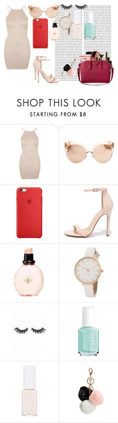 """Date"" by genesis-alvins on Polyvore featuring moda, Oris, Topshop, Linda Farrow, Liliana, Yves Saint Laurent, Violet Voss, Essie y GUESS"