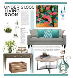 """Living Room Under 1000$"" by anja-pixie-jovanovic ❤ liked on Polyvore featuring interior, interiors, interior design, home, home decor, interior decorating, Fogarty, Cultural Intrigue, LSA International and Creative Co-op"