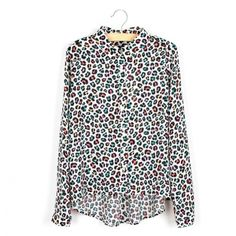 Essential Button Down Printed Chiffon Shirt for Women