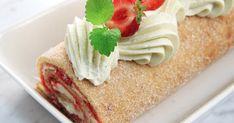 Rulltårta med jordgubbsylt och chantilly