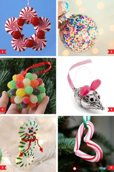 DIY Christmas ornaments made with candy!