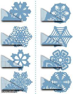 flocons de neige en papier