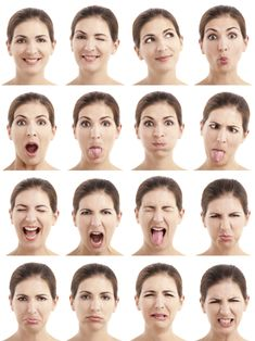 Multiple Close-Up Portraits Of The Same Woman Expressing Different Emotions And Expressions 写真素材 97302827 : Shutterstock Human Reference, Figure Drawing Reference, Photo Reference, Human Face Drawing, Face Drawings, Face Study, Anatomy Poses, Different Emotions, Drawing Expressions