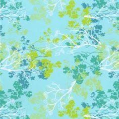 Erin Ries - Robin - Branches in Light Aqua