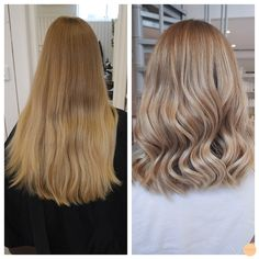 Kolla in Cecilias förvandling! Vi har klippt av över o Cheveux Beiges, Beige Hair, Beautiful Hair Color, Hair Color And Cut, Balayage Hair, Hair Looks, Pretty Hairstyles, Dyed Hair, Hair Inspiration