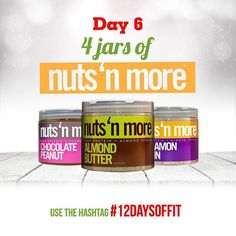 Who's Excited?!  DAY 6 of 12 Days Of Giveaways is your chance to win a FOUR jars of Nuts N More!!!  To Enter: Head over to @nutsnmore  1) Follow all of the amazing brands in this giveaway!. @muscleegg. @sizzlefishfit. @fitchick428. @5280meat. @ensorings. @nutsnmore. @performancepin. @royaltynutrition. @taintedindustriesclothing. @lennyandlarrys. @kodiakcakes. @melissasproduce. @omgheebutter. @myoatmeal.  2) comment below tagging 3 friends and using #12DaysOfFit to spread the word! . Dont…