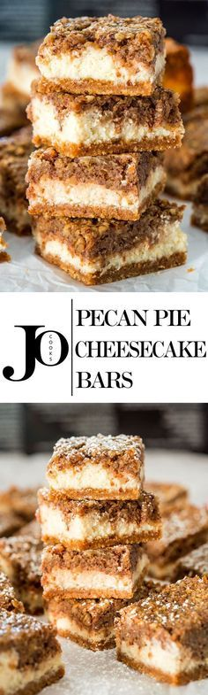Pecan Pie Cheesecake Bars is what happens when you combine two of my favorite desserts. These luscious three layer bars are truly amazing!