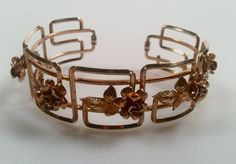 ESTATE Jewelry 1940s Vintage Gold Plated CUFF by thepopularjewelry, $29.00