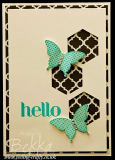 Hello Beautiful Butterflies Card by UK based Stampin' Up! Demonstrator Bekka Prideaux - check out her blog for lots of great ideas using the...