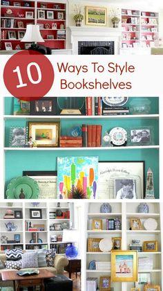 Bright Bold & Beautiful blog post 10 Ways To Style Bookshelves http://www.brightboldbeautiful.com/2014/11/10/10-ways-to-style-bookshelves/ via bHome https://bhome.us