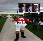 British themed entertainment. Our Union Jack stilt walker can be hired in London and the UK.