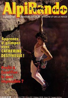 Pretty Climbing Lady, C. Destivelle, AlpiRando cover April 1986