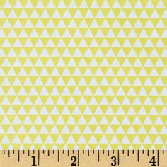 Riley Blake Oh Boy! Triangles Yellow from @fabricdotcom  Designed by Lori Whitlock for Riley Blake, this cotton print is perfect for quilting, apparel and home decor accents.  Colors include yellow and white.
