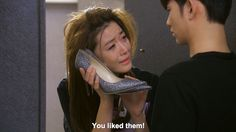 We get this upset over shoes too,,,,  My Love From the Stars episode 12.