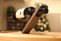 Oblique Cantilever Wine Bottle Holder - $35