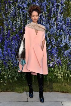 Rihanna en Christian Dior au défilé Christian Dior haute couture automne-hiver 2016-2017