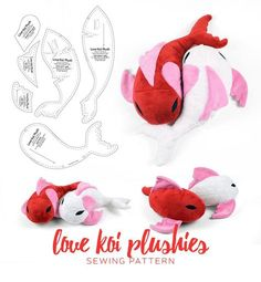 Love Koi Plushies Sewing Pattern by SewDesuNe.deviantart.com on @DeviantArt
