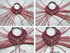 free macramé pattern http://ecocrafta.blogspot.com/2016/07/macrame-earrings-gypsy-pink.html