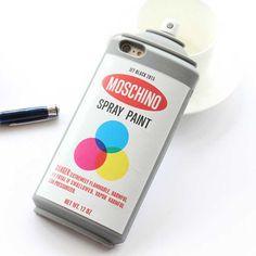 moschino落書き ラッカー塗装iPhone7/7 Plus/6ケース6plusシリコン保護カバー5s/SE耐衝撃ボトル瓶6s