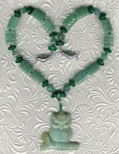 Out on a Limb  OOAK Amazonite Owl Pendant by ChicStatements