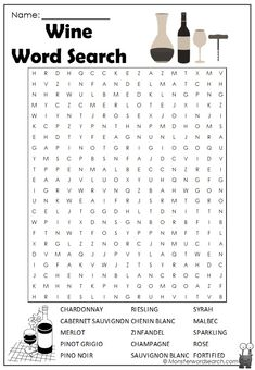 Super Word Games For Teens Pictures Ideas Wine Cheese Pairing, Wine And Cheese Party, Wine Tasting Party, Wine Parties, Wine Games, Word Search Puzzles, Word Puzzles, Wine Packaging, Games For Teens