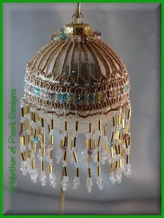 Mother of Pearl Designs - Beaded and Original Christmas Ornaments & Ornament Covers NO PATTERNS