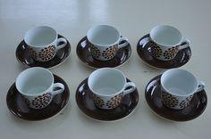 Arabia Finland, retro - vintage 6 cups and plates 91e Huuto.net
