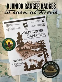 The National Park Service has 8 Junior Ranger Badges that you can earn at home.