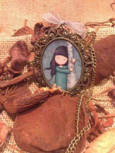Collar largo estilo vintage muñequita con aires de gorjuss
